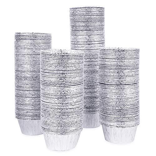Kingrol 300 Pack Aluminum Foil Ramekins, 4 oz Disposable Baking Cups for Tart, Cupcake, Souffle, Appetizer