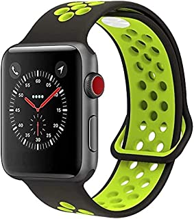 Zege Fits for Apple Watch Band 42mm 44mm, Soft Silicone Sport Band Replacement Wrist Strap for iWatch Series 6/5/4/3/2/1, ...