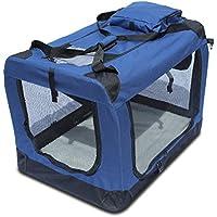 YATEK Transportin para Perros Plegable entradas Laterales y Superiores con Alta Visibilidad, Confort y Seguridad para tu Mascota (Tamaño M (60 x 42 x 42cm))