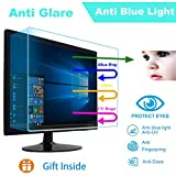 """24' Eyes Protection Anti Blue Light Anti Glare Screen Protector fit 24 Inches 16:9 Widescreen Desktop Monitor Screen (20.9' x11.8""""). Reduces Digital Eye Strain Help You Sleep Better"""