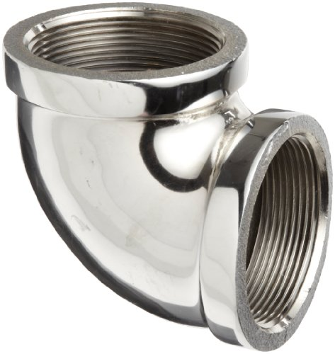 Chrome Plated Brass Pipe Fitting, 90 Degree Elbow, 2