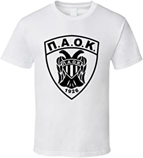 PAOK Greek Soccer T Shirt White