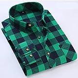 Camisa Cómoda Y De Moda Camisa De Cuadros Male Shirt Chemise Homme Plaid Shirt Men Casual Long Sleeve High Cotton Fashion Asiansiz