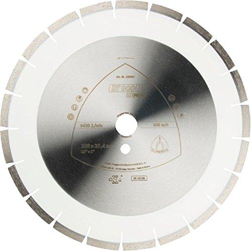 Klingspor 325130 Discos de Corte Diamantados para Tronzadoras Motorizadas/Cortadura de Juntas, DT 902 A, 450 mm x 25.4 mm, 4300 RPM, 28 mm/40 mm/3.7 mm/12 mm Segmentos