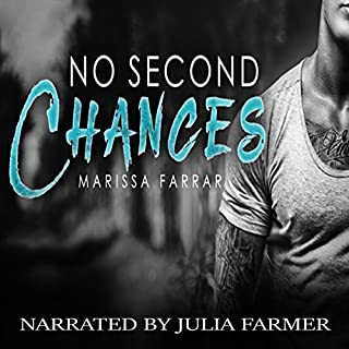 No Second Chances                   By:                                                                                                                                 Marissa Farrar                               Narrated by:                                                                                                                                 Julia Farmer                      Length: 7 hrs and 6 mins     22 ratings     Overall 4.2