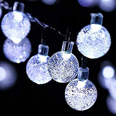 Outdoor Solar String Light Garland 30LED Fairy String Lights Bubble Crystal Ball Lights Decorative Lighting for Indoor Garden Home Patio Lawn Party Holiday Ooutdoor Decor(20FT)