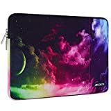 MOSISO Laptop Sleeve Compatible with 13-13.3 inch MacBook Pro, MacBook Air, Notebook Computer, Polyester Vertical Pattern Bag with Pocket, Colorful Sky