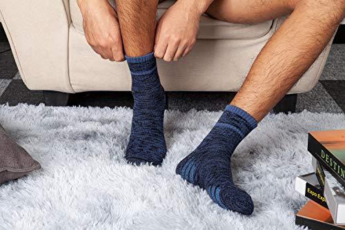 u&i Men's Performance Cushion Cotton Mid Cut Quarter Athletic Socks, Multicolor (8-Pack)