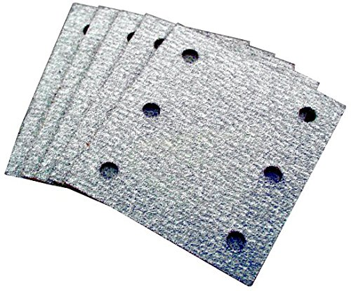 Makita 742520-A Pack de 5 hojas de lija de 6 agujeros, grano 80