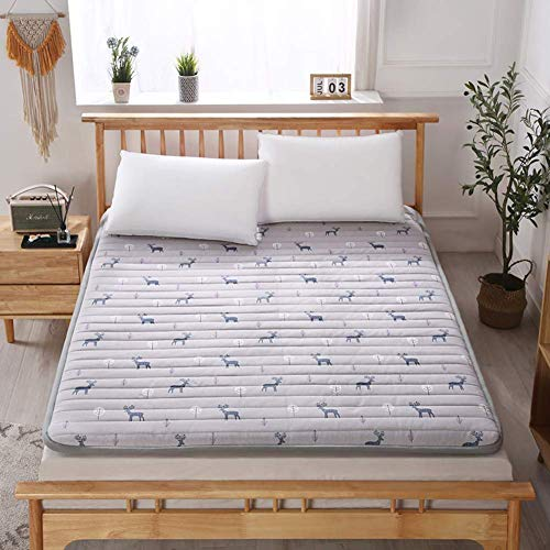 DJQ Tatami Comfort Futon Mattress, Thick Floor Mattress, Japanese Futon Mattress Portable Tatami Mattress, Quilted Mattress Cover for Student Dormitory J 90x200cm (35x79 inch)