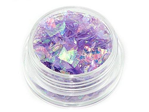 Flakes Irisierende! Folie in Döschen,Foil! Violett