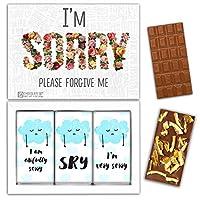 "DA CHOCOLATE キャンディーお土産SORRYチョコレートセット1箱7.2x5.2 ""3オンス各チョコレート4x2"" (MILK Orange Cedar Mint)"