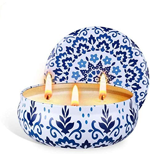 [1 Pack] Citronella Candles Outdoor Set, Soy Wax Scented Candles Set, Lumos Scented Tin Citronella Candles, Elegant Natural Candles jar Citronella Candles Indoor, Citronella Camping, Garden, Travel
