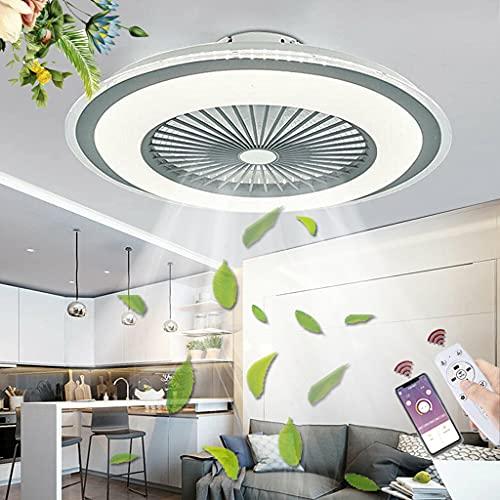 LED Ventilador De Techo Con Lámpara 80W Ventilador Lámpara De Techo Con Control Remoto Ajustable Velocidad Del Viento Y De Atenuación Fan Luz De Techo Lámpara De Ventilador De Comedor Dormitorio
