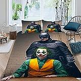 N \ A Batman Vs-Superman - Juego de funda de edredón y 2 fundas de almohada (3 piezas, 100% fibra de poliéster, 220 x 240 cm + 50 x 75 x 2.A05)