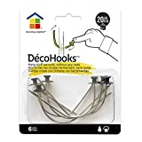 Under the Roof Decorating 5-100145 20 lb Deco Hooks with Sampler Pack, Small Head, 6 Piece