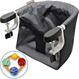 Mountain Buggy Pod Clip-on High Chair with Click Clack Balls Teether - Flint
