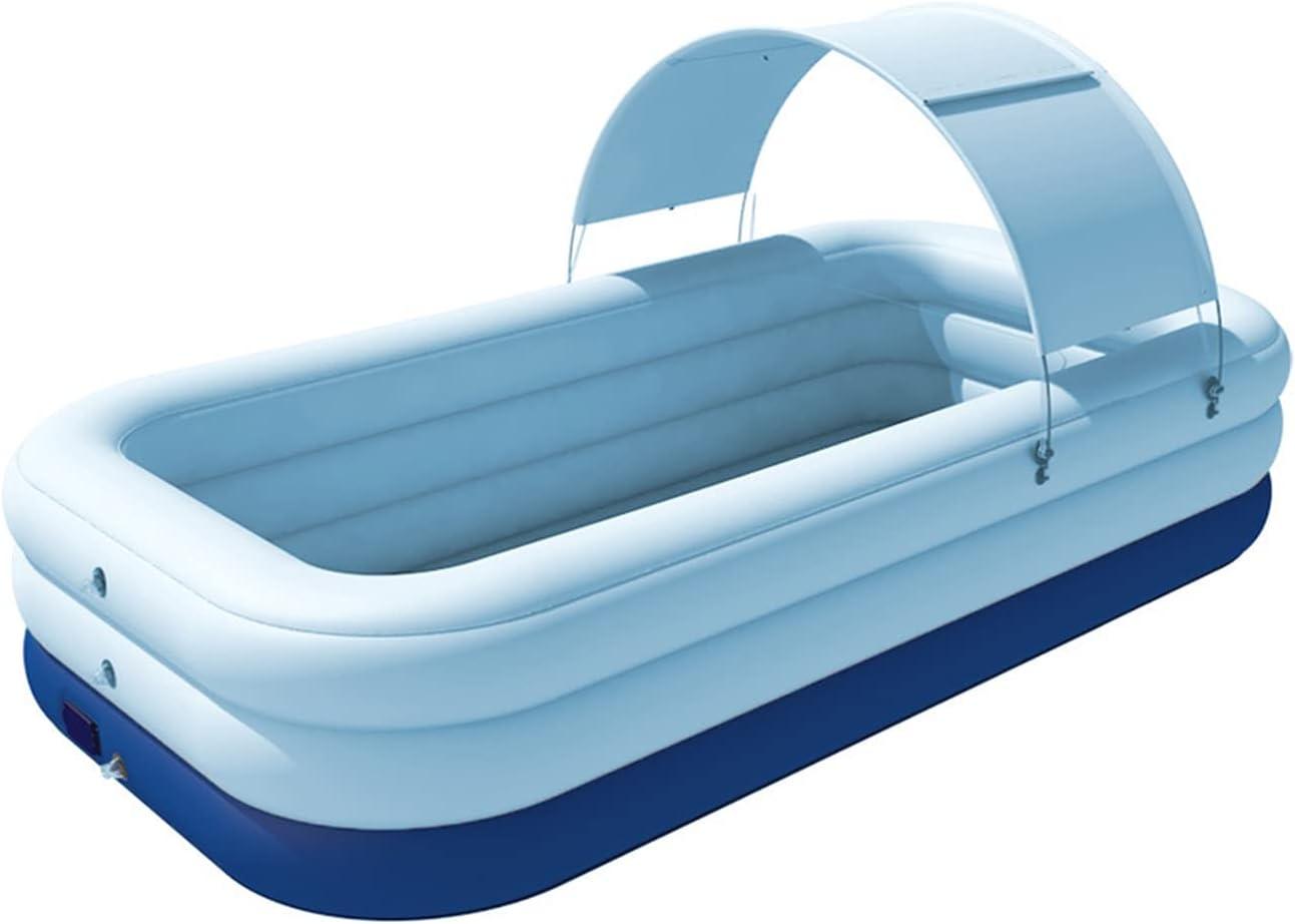 YANAN Piscina Inflable Automática Inalámbrica De PVC para Niños con Toldo De Protección Solar Piscina Infantil Familiar (Color : Azul, Talla : 2.1 Meters/6.9 Feet)