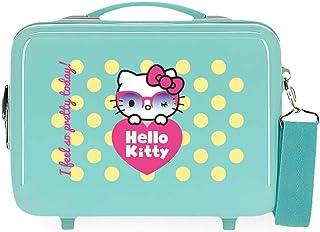 Hello Kitty Pretty Glasses Adjustable Cosmetic Bag Green 29 x 21 x 15 cm Rigid ABS 9.14L 0.85 kg