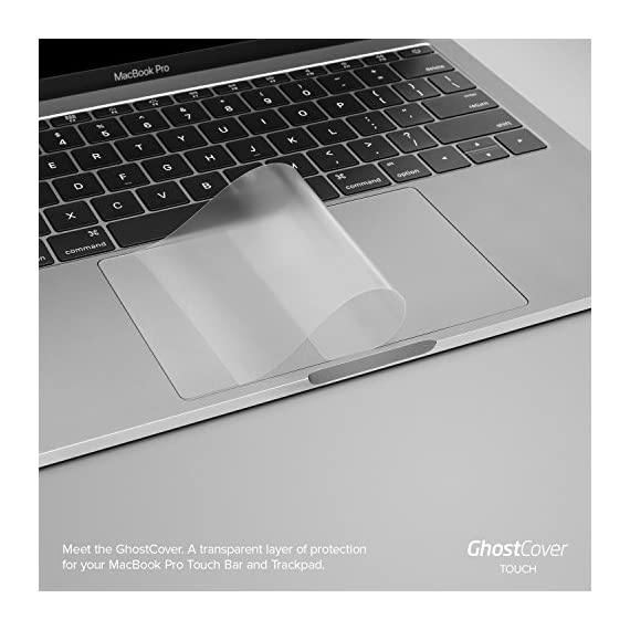 """UPPERCASE GhostCover Touch Premium Touch Bar and Trackpad Protector with Matte Finish, Compatible with 2016 2017 2018 2019 MacBook Pro 13"""" A1706 A1708 A1989 2 <p>The clear, anti-glare film acts as a shield against minor scratches while remaining virtually invisible. Precisely cut for MacBook Pros to deliver an easy-to-apply and seamless finish. Designed to be highly responsive, the cover features superior touch sensitivity. Includes a replacement protector set in case your film starts showing excess wear. Compatible with 2019 MacBook Pro 16 with Apple model number A2141</p>"""