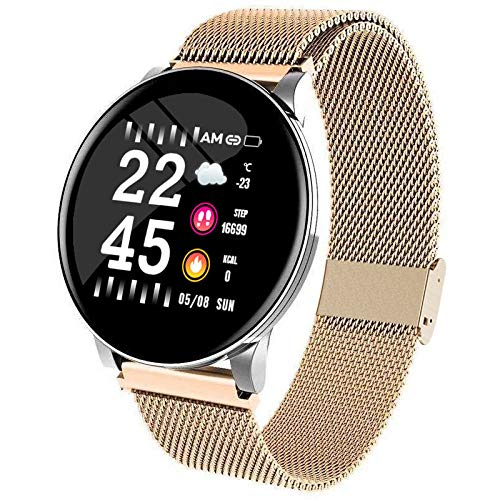 MOLINB Slim horloge Smart Watch waterdichte klok Activiteit Fitness tracker Hartslagmeter Sport Heren Dames smartwatch voor IOS Android