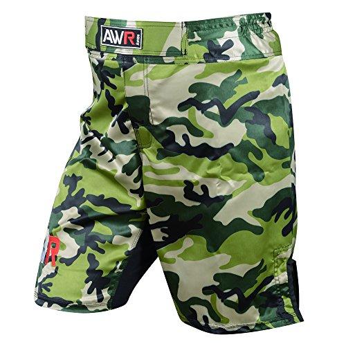 Activave MMA Fight Shorts Grappling Short Thai Kick Boxing Cage Fighting Shorts BJJ,Training, (Small 26' - 28' Waist, Green Camo)