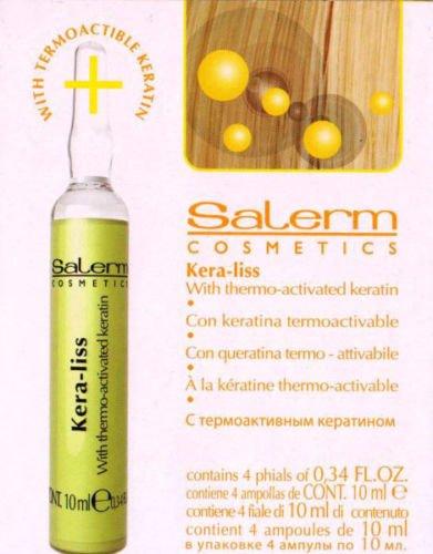 Kera Liss Keratina Termoactivable Salerm Ampollas 4Uni x 10ml.