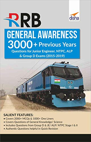 RRB General Awareness 3000+ Previous Years Questions for Junior Engineer, NTPC, ALP & Group D Exams (2015-2017)