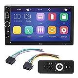 Qiilu 12V 7in 2 DIN TFT Bluetooth Coche MP5 Reproductor HD Interconexión de teléfono MP3 Radio SWM A7 para Android/IOS