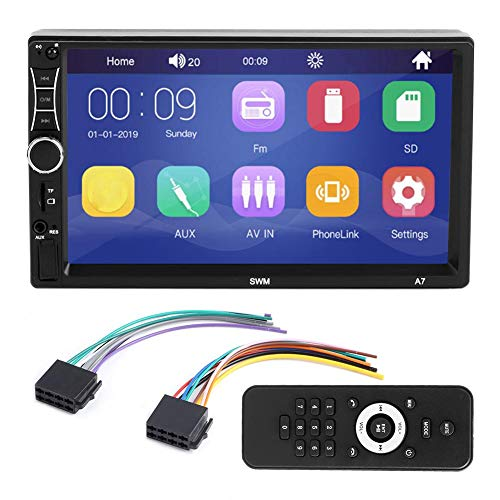 Gancon 7 Pulgadas 2 DIN TFT Bluetooth Car MP5 Player HD Interconexión de teléfono MP3 Radio SWM A7 para Android/iOS
