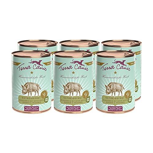 Terra Canis Wildschwein, Rote Bete, Maronen & Chiasamen - Getreidefreies Nassfutter, 6x400g I Premium Hundefutter in 100% Lebensmittelqualität Aller Rohstoffe I Reichhaltig, gesund & glutenfrei