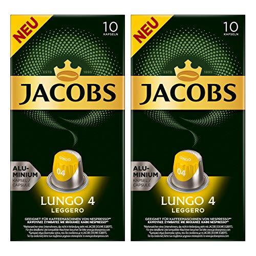 Jacobs Lungo 4 Leggero, Kaffeekapseln, Nespresso Kompatibel, Kaffee, 20 Kapseln, á 5.2 g