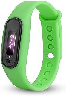 LiboboRun Step Watch Bracelet Pedometer Calorie Counter Digital LED Walking Distance (Green)