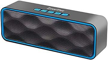 ZoeeTree Bluetooth スピーカー ワイヤレススピーカー 高音質 大音量 FMラジオ対応 TWS機能 内蔵マイク ハンズフリー通話 microSDカード 12時間連続再生 ポータブル アウトドア お風呂