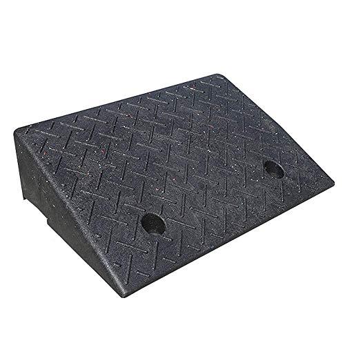 DYB Rampa de Goma Rampa de umbral Coche Rampa para Silla de Ruedas Base Engrosada Antiestrés Caucho Antideslizante, Negro, 11 tamaños (Negro, Tamaño: 50x32x11cm)