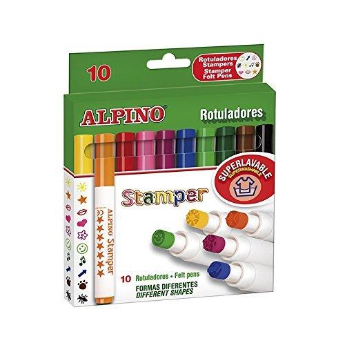 Alpino AR000059 - Estuche de 10 rotuladores, colores surtidos
