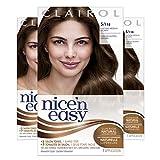 Clairol Nice'n Easy Permanent Hair Dye, 5 Medium Brown Hair Color, 3 Count
