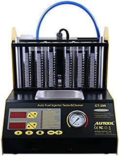 AUTOOL CT-200 Ultrasonic Fuel Injector Cleaner Tester 6 CylinderFuel Injection Leakage/Blocking Testing Machine Tool Kit 110V/220V