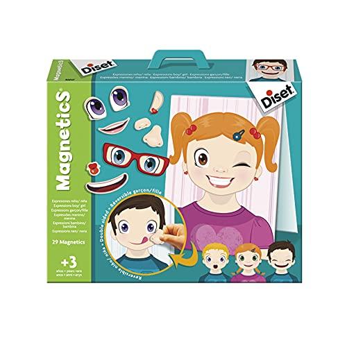 Diset - Magnetics Expresiones, Juego educativo con piezas magneticas para niños a partir de 3 años