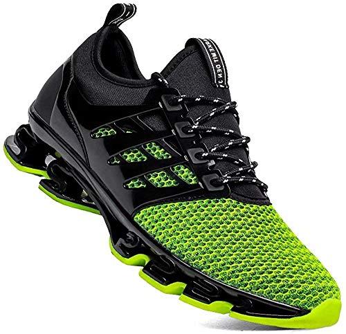 Aszeller Mens Athletic Walking Blade Running Tennis Shoes Fashion Sneakers(Green,8.5)