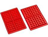 Amison - Juego de 2 moldes de silicona para gofres o chocolate