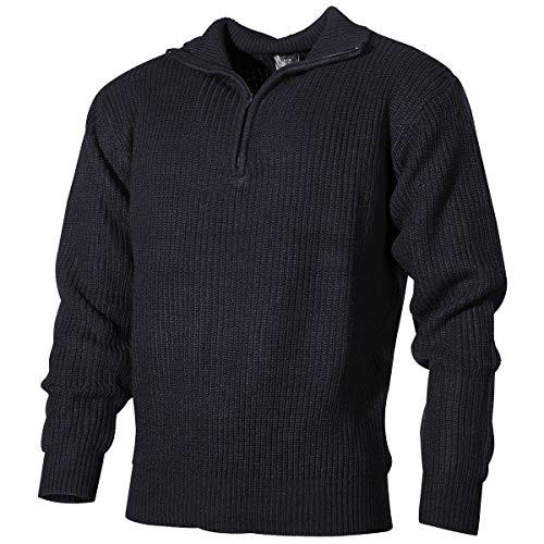 MFH Isländer Pullover, Troyer mit Reißverschluss, Blau, X-Large