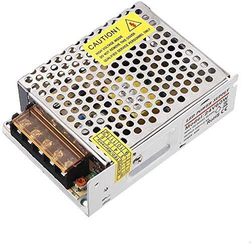 ZW18U PC 1 Perfectamente 60W Cambio de la Fuente de alimentación Conductor SMPS Transformer CA 110-220V A DC 12 / 24V para LED Strip sin rodeado (Color: 12V) Mecánico (Color: 24V) Piezas de Repuesto