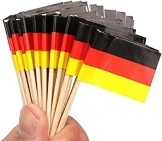 SHATCHI German Flag Wooden Toothpicks Sandwich Food Cup Cake Cocktail Sticks Picks Party Accessories Tableware Decorations...