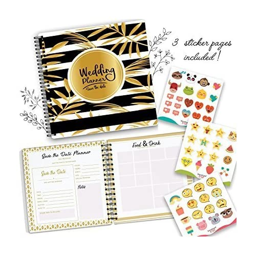 The Perfect Wedding Planner and Organizer - 80 Pages with Checklists, Guest Name List, and Essential Tools - Plan your Dream Wedding As You And Your Fiance Head Up To Tie The Knot -Comes with Stickers