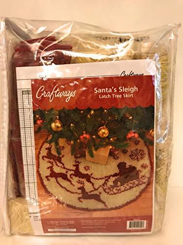 Craftways Santa's Sleigh Tree Skirt Latch Hook Kit