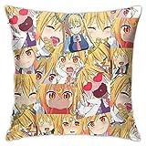 Jupsero Tiyole Kibe 8 Kiba Inuzuka Anime Throw Pillow Funda Decorativa 18x18 Pulgadas Throw Pillow Cover Home Sofá Sofá Cama Forma Cuadrada Sin Almohada 18 'X18'