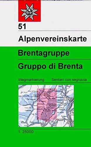 Brentagruppe: Topographische Karte 1:25.000 (Alpenvereinskarten)