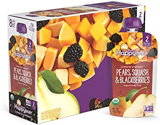 Happy Baby Pears Squash and Blackberries Clearly Crafted, 113 gm