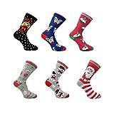 HDUK Socks Herren Socken, Christmas Design Novelty Socks, Rot, Christmas Design Novelty Socks